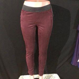 NWT INC Red Faux Suede Skinny Leggings